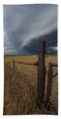 Beach Towel featuring the photograph Rusty Cage  by Aaron J Groen