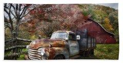 Rusty Chevy Pickup Truck Beach Towel