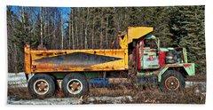 Rusty Dump Truck Beach Towel