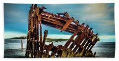 Rusty Forgotten Shipwreck Beach Towel