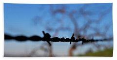 Beach Sheet featuring the photograph Rusty Gate Rural Tree by Matt Harang