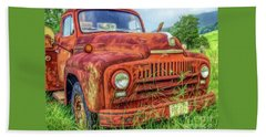Beach Towel featuring the photograph Rusty International by Marion Johnson