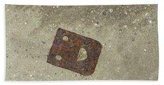 Rusty Metal Hinge Smiley Beach Towel