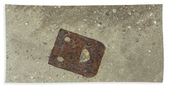 Rusty Metal Hinge Smiley Beach Sheet