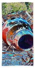 Rusty Metal Stuff II Beach Towel by Debbie Portwood