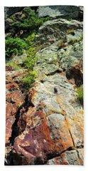 Rusty Rock Face Beach Sheet