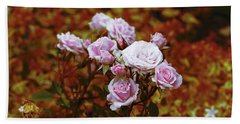 Beach Towel featuring the photograph Rusty Romance In Pink by Ivana Westin