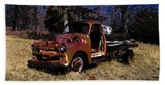 Rusty Truck Beach Sheet