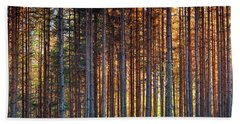Rusy Forest Beach Towel