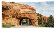 Rv Red Canyon Tunnel Utah Beach Sheet