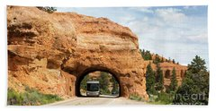 Rv Red Canyon Tunnel Utah Beach Sheet