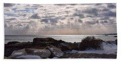 Rye In Winter Beach Sheet