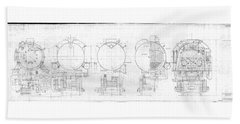 S-1a Cross Sections Beach Towel