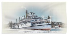 Beach Sheet featuring the photograph S. S. Sicamous II by John Poon