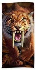 Sabertooth Beach Towel by Jerry LoFaro
