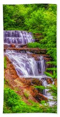 Beach Towel featuring the photograph Sable Falls by Nick Zelinsky