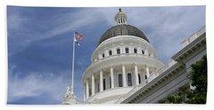 Sacramento Capitol Building Beach Sheet