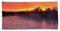 Sacramento River Sunrise Beach Towel