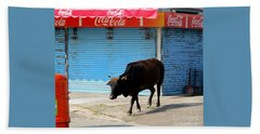 Beach Towel featuring the photograph Sacred Cow 1 by Randall Weidner