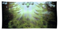 Sacred Forest Event Beach Towel by Milton Thompson