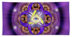 Sacred Geometry 639 Beach Towel