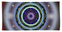 Sacred Geometry 640 Beach Sheet by Endre Balogh