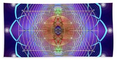 Sacred Geometry 641 Beach Sheet by Endre Balogh