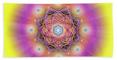 Sacred Geometry 643 Beach Sheet by Endre Balogh
