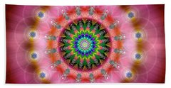 Sacred Geometry 644 Beach Sheet by Endre Balogh