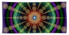 Sacred Geometry 652 Beach Towel