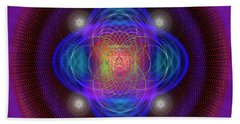 Sacred Geometry 654 Beach Towel
