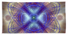 Sacred Geometry 656 Beach Towel