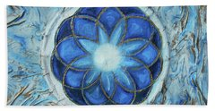 Beach Towel featuring the mixed media Sacred Geometry by Angela Stout