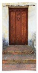 Sacred Heart Door Beach Towel