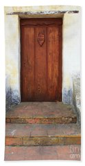 Sacred Heart Door Beach Sheet