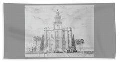 Sacred Steps - St. George Temple Beach Towel