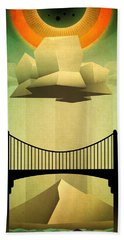 Sacred Sun Shower Beach Towel by Milton Thompson