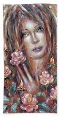 Sad Venus In A Rose Garden 060609 Beach Towel
