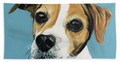 Beach Towel featuring the painting Sadie by Nathan Rhoads