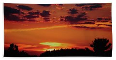Beach Towel featuring the photograph Sadie's Sunset by Bruce Patrick Smith