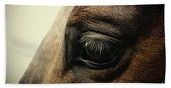 Sadness Horse Eye Beach Towel