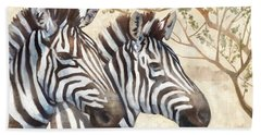 Safari Sunrise Beach Towel by Mauro DeVereaux