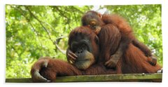 Safe With Mom Beach Towel by Lisa L Silva