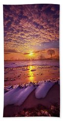 Beach Towel featuring the photograph Safely Secluded In A Far Away Land by Phil Koch