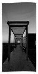Beach Towel featuring the photograph Sag Harbor Sunset In Black And White by Rob Hans