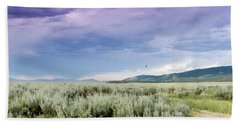 Sage Fields  Beach Towel by Dawn Romine