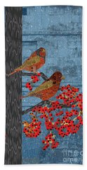 Beach Towel featuring the digital art Sagebrush Sparrow Long by Kim Prowse