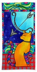 Sagittarius Cat Zodiac Beach Towel