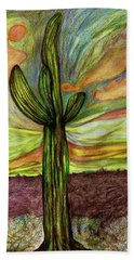 Saguaro Cactus Beach Towel