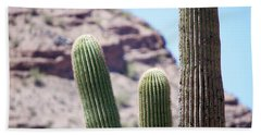 Saguaro Movie Nostalgia Beach Towel by Carolina Liechtenstein